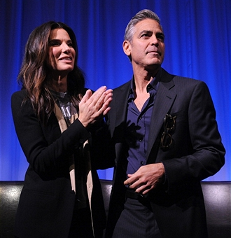 Q&A at Gravity Screening with George Clooney and Sandra Bullock  Gravit46