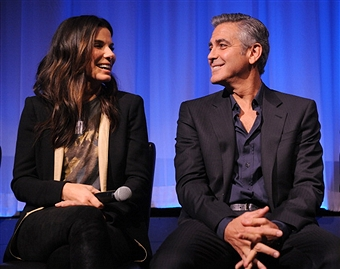 Q&A at Gravity Screening with George Clooney and Sandra Bullock  Gravit47