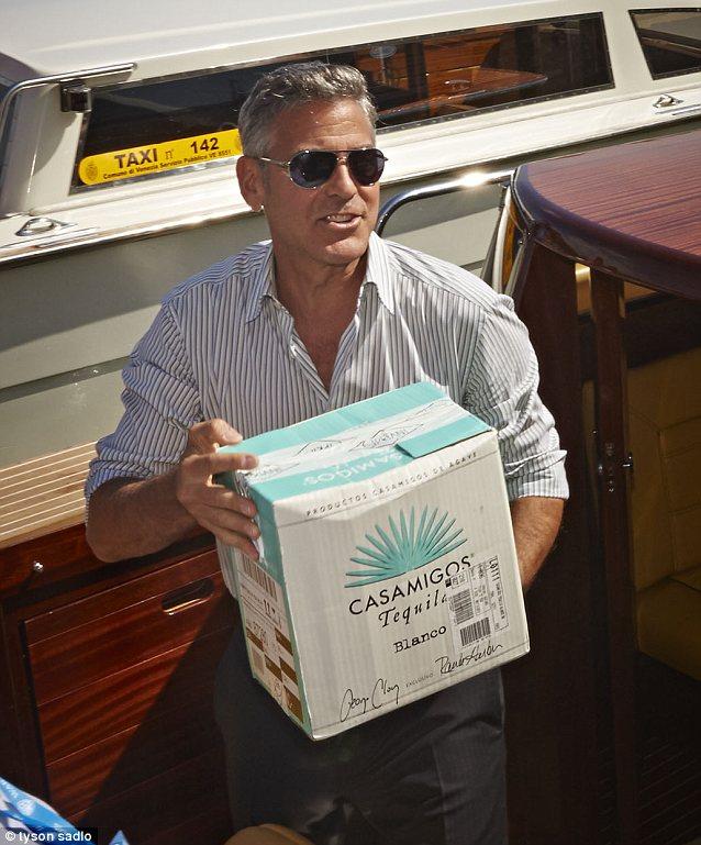 George Clooney and Rande Gerber deliver Casamigos tequila to Venice Vff_ca10