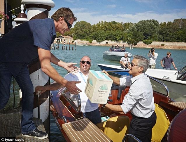 George Clooney and Rande Gerber deliver Casamigos tequila to Venice Vff_ca11