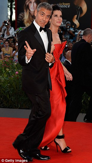 George Clooney and Sandra Bullock at the evening premiere of Gravity at Venice Film Festival - Page 2 Vff_cl35