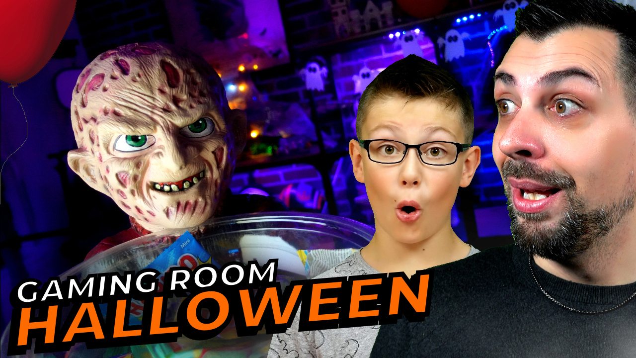 On décors la gaming room pour Halloween Hallow10