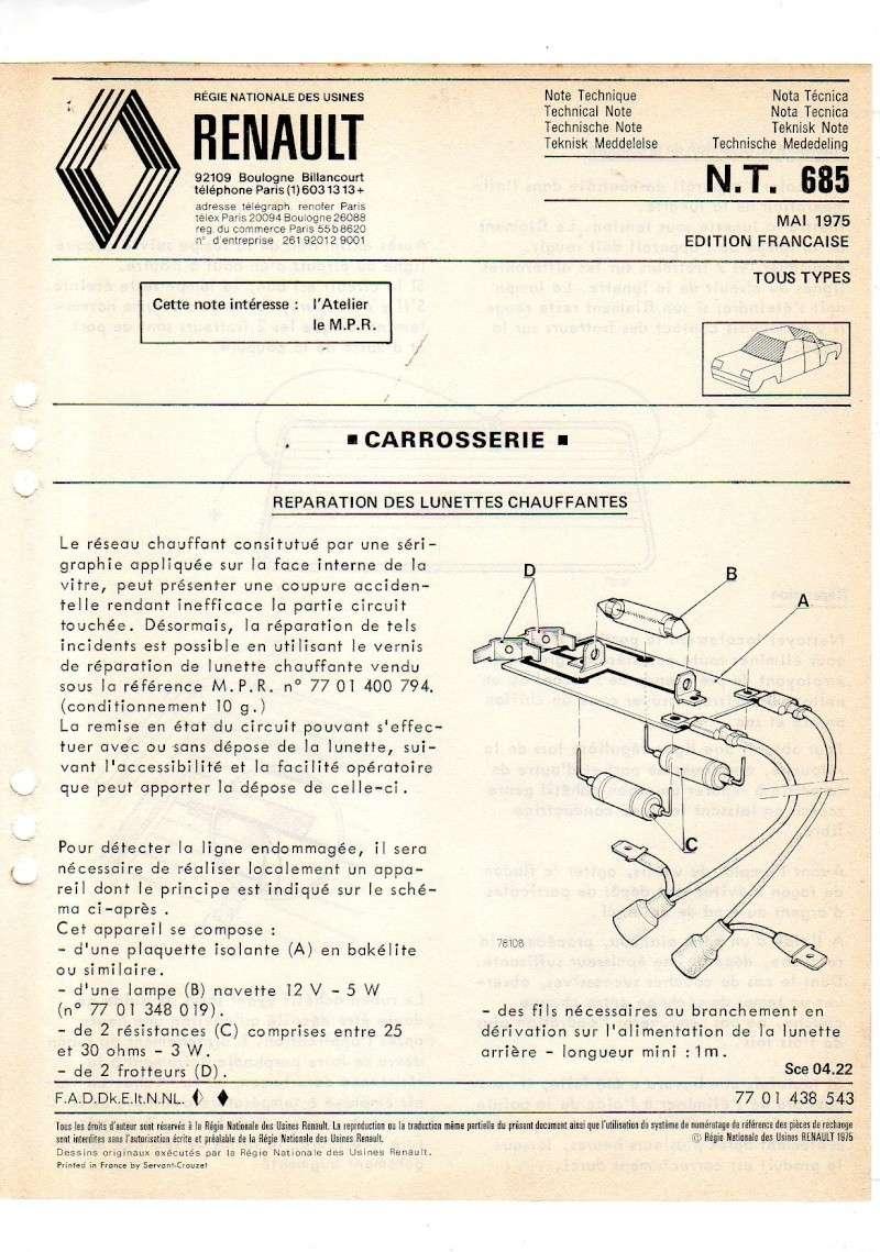 Notes Techniques (NT) et Informations Service (IS) Nt-68510