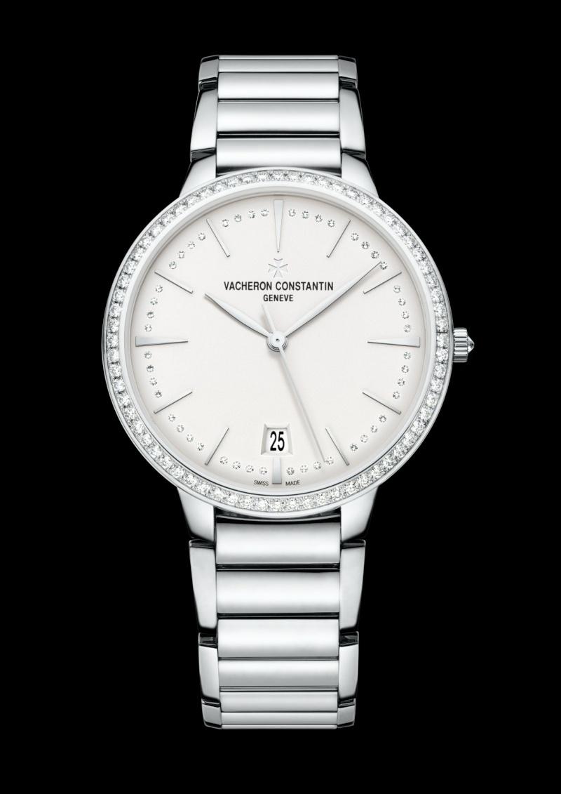 vacheron - NEWS : VACHERON CONSTANTIN - Patrimony Contemporaine petit modèle or blanc 85515_10