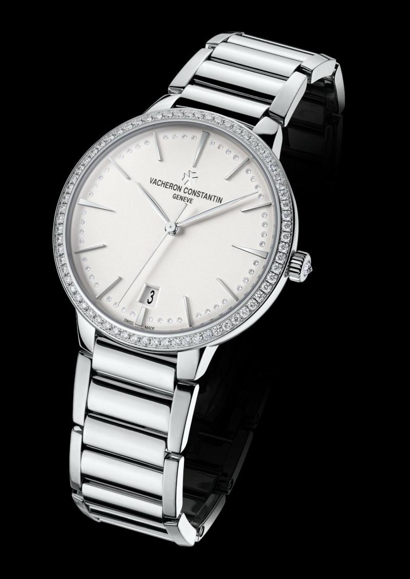 vacheron - NEWS : VACHERON CONSTANTIN - Patrimony Contemporaine petit modèle or blanc 85515_11