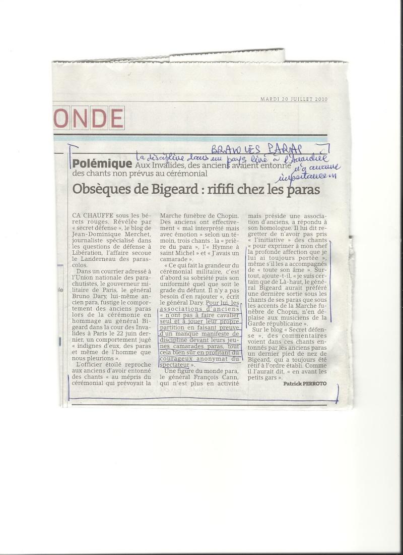 Coupure de presse: Retour sur incident des Invalides avec le général Dary Bigear12