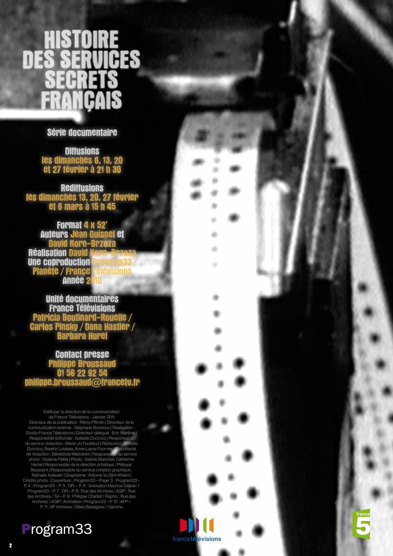 LES SERVICES SECRETS FRANCAIS ce soir sur France5 dimanche 6 février 2011 Servic11