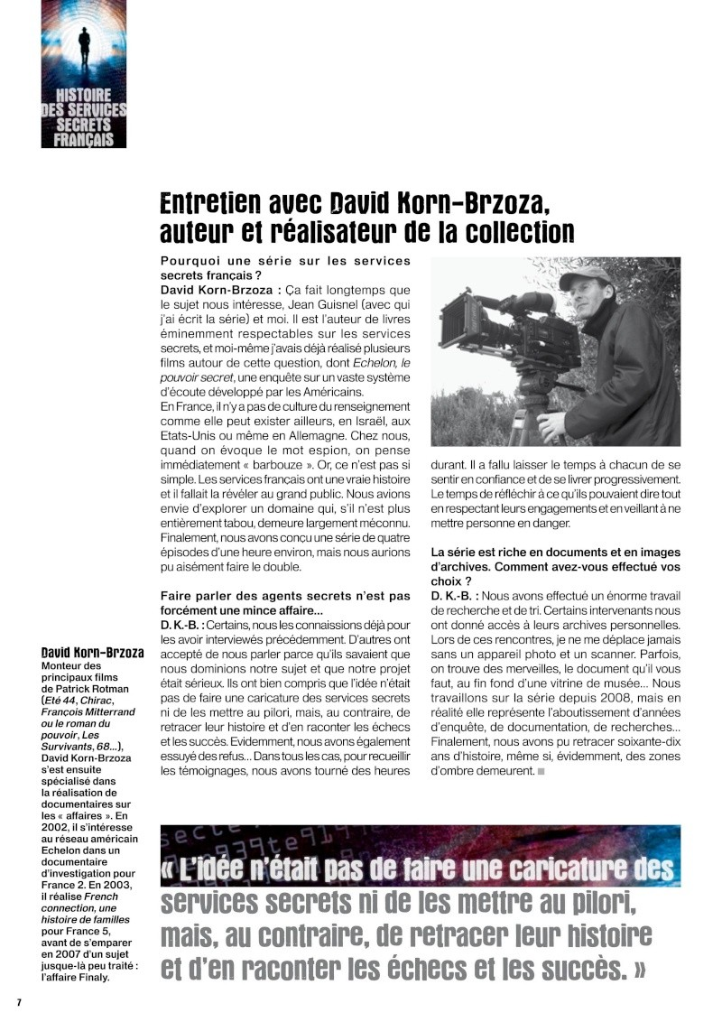 LES SERVICES SECRETS FRANCAIS ce soir sur France5 dimanche 6 février 2011 Servic16