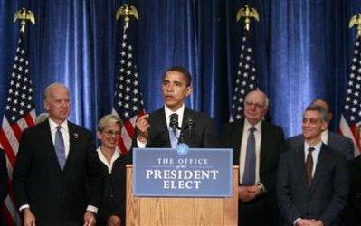Priorité d'Obama: apporter des réponses rapides à la crise Barack26