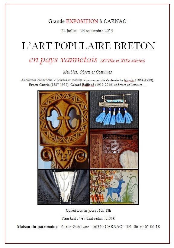 Exposition arts populaires sur Carnac Expo110