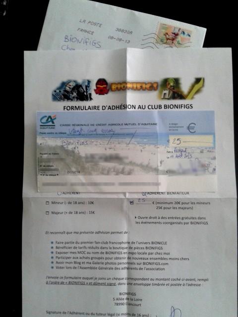 [Association] Le Club BIONIFIGS reçoit ses premières adhésions 20130810