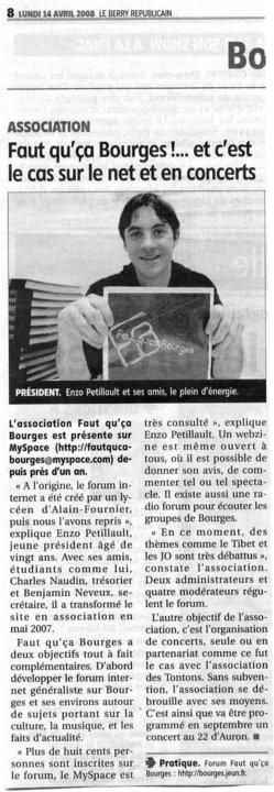 L'association Faut Qu'ça Bourges 20570710