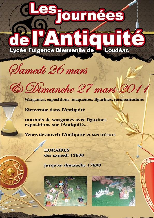 """Journée """"Antiquité"""" au lycée F. Bienvenue de Loudéac Affich10"""