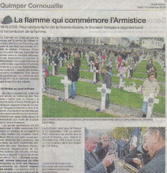 Arrivée de la flamme du souvenir à Quimper et transmission à Fouesnant 2_en_611