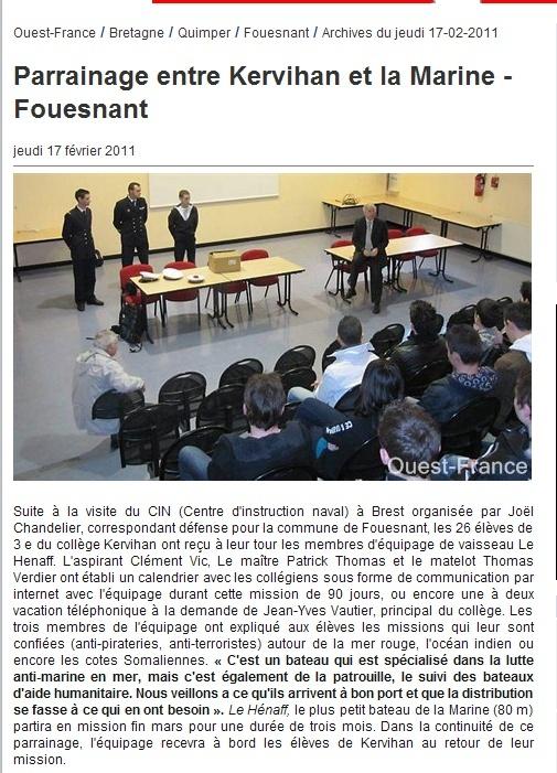 LIEUTENANT DE VAISSEAU LE HENAFF (AVISO) - Page 3 Parain10