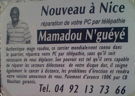 Boite aux Prospectus de la voyance par émail Mamado10