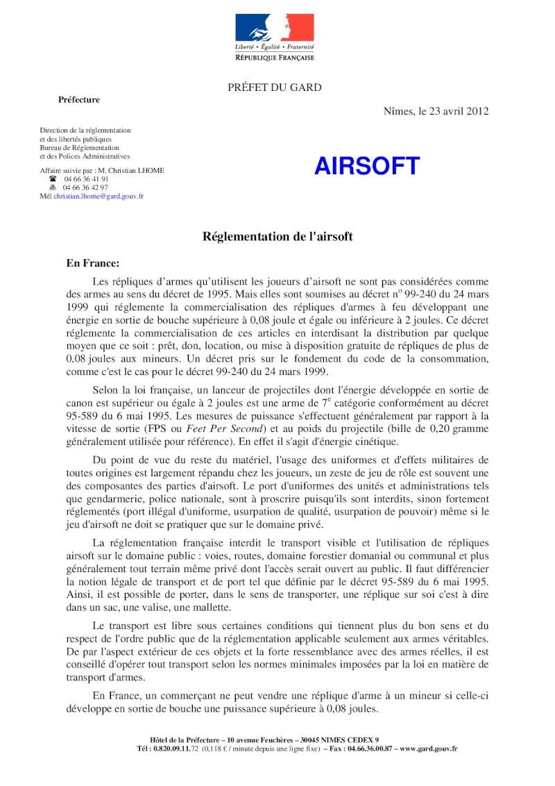 Dossier thématique de l'airsoft 2013 (Préfecture du Gard) Page110