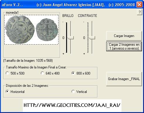 Programa/Utilidad para gestion de imagenes aForo Aforo210