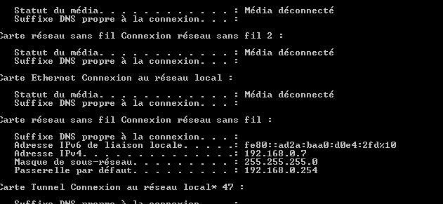 problème de connection Adress10