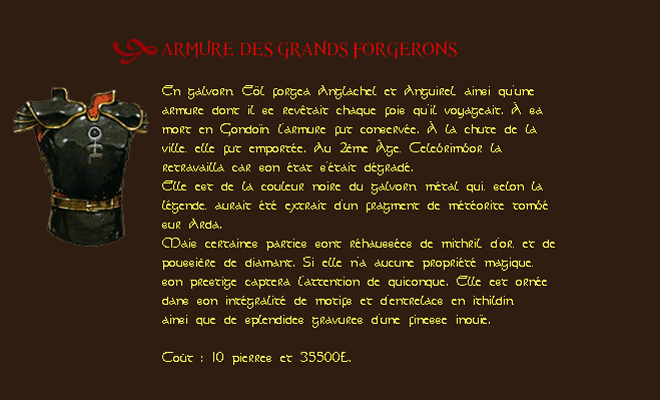 Les Caves D'or Armure11