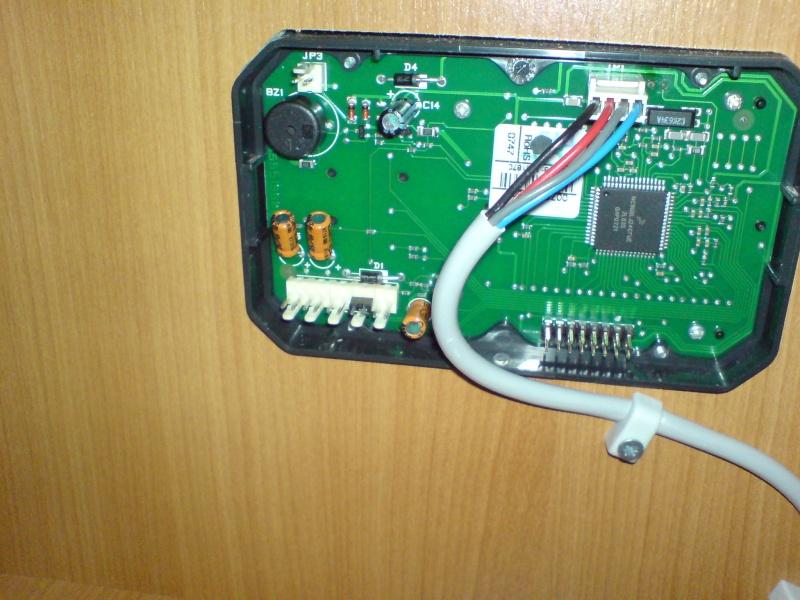 Mørkt kontrollpanel/display på Alde 3010 Dsc03213
