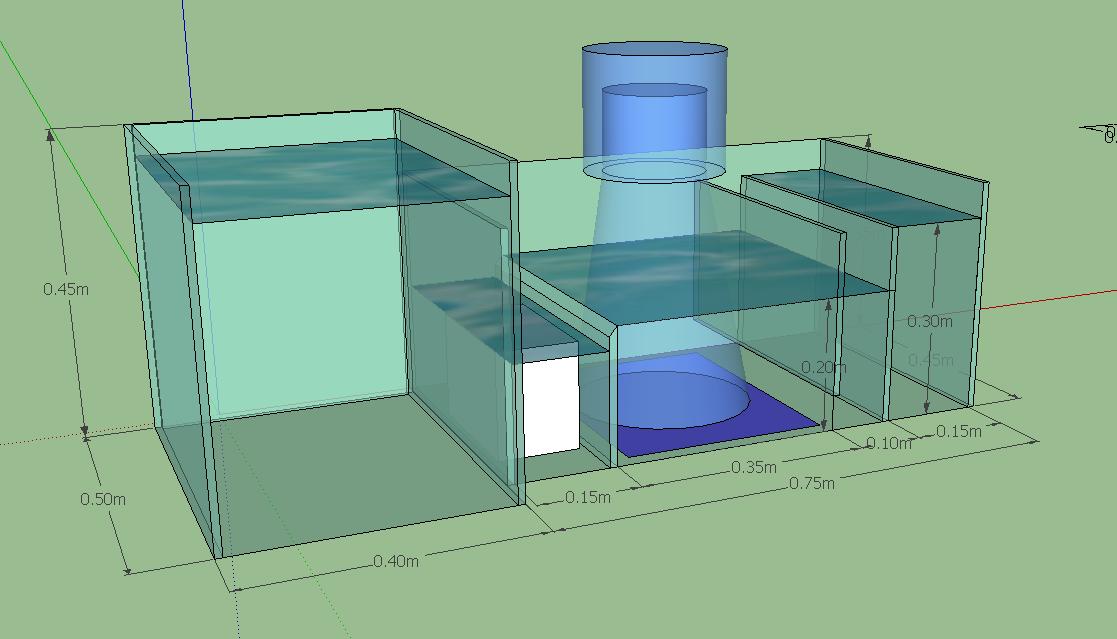 Dimension compartiment décante Projet14