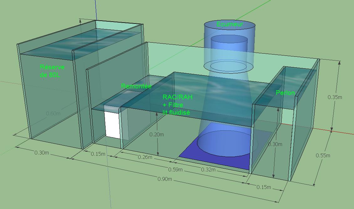 Dimension compartiment décante Projet17