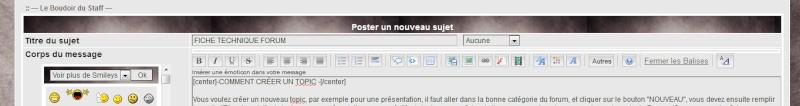 Utiliser les boutons sur le forum pour la mise en page Bouton10