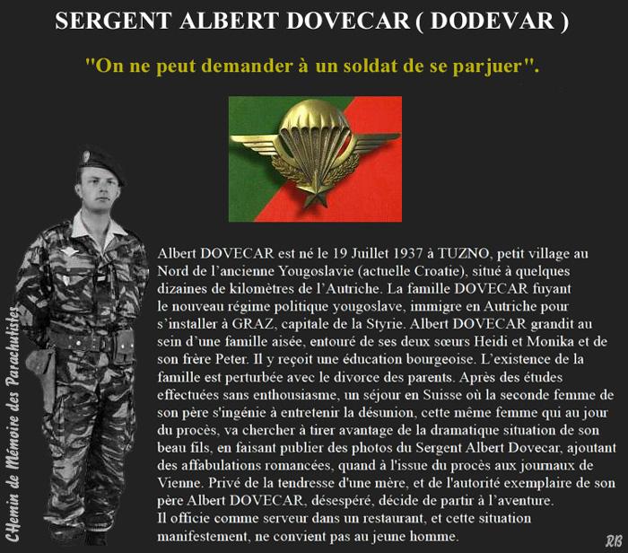 Albert Dovecar fusillé à l'âge de 24 ans, il y a 51 ans.L'âge de Albert Dovecar serait aujourd'hui de 75 ans. 1_albe10