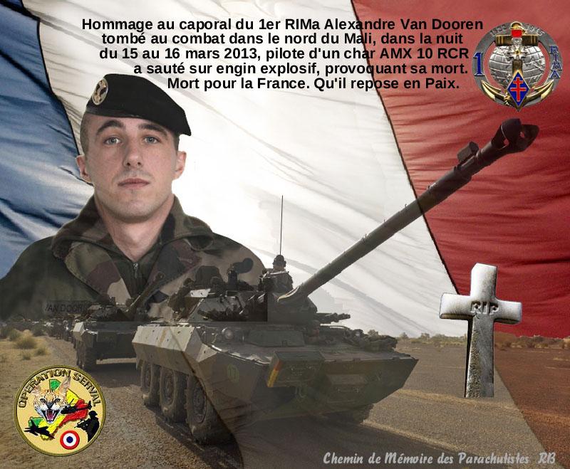 Caporal Van Dooren  du 1er RIMa d'Angoulème tué au combat au sud de Tessalit un cinqième soldat au Mali 1_alex11