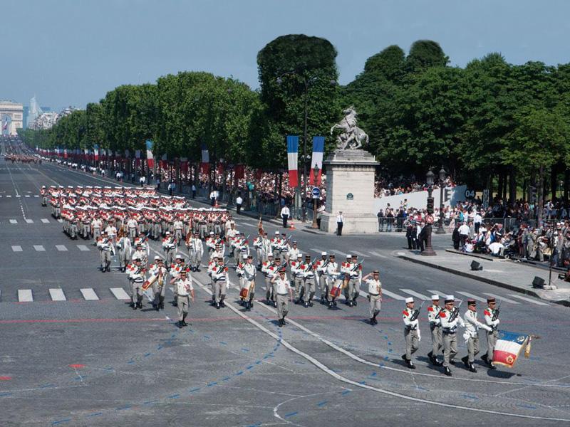 La Légion étrangère était  sur les Champs-Élysées pour le défilé du 14-juillet.  3_lagi10