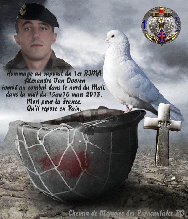 Caporal Van Dooren  du 1er RIMa d'Angoulème tué au combat au sud de Tessalit un cinqième soldat au Mali 3_para11