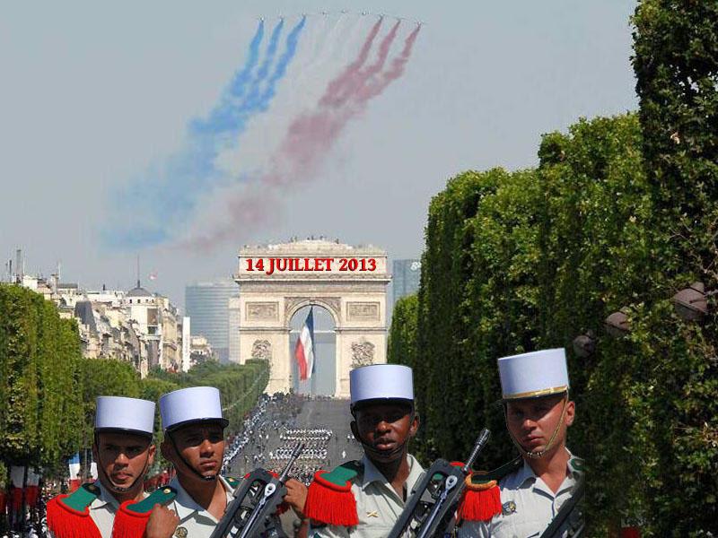La Légion étrangère était  sur les Champs-Élysées pour le défilé du 14-juillet.  4_14_j10