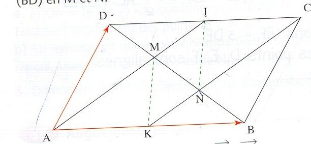 Parallélogramme et vecteurs Numari10