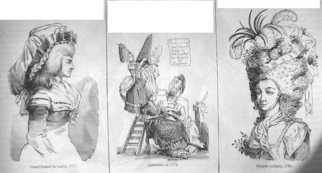 Coiffures du XVIIIeme: poufs, postiches, bonnets et chapeaux - Page 3 17782b10