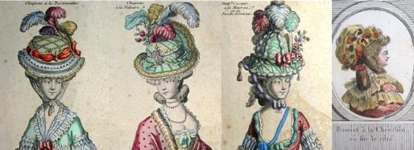 Coiffures du XVIIIeme: poufs, postiches, bonnets et chapeaux - Page 3 Coiffu10