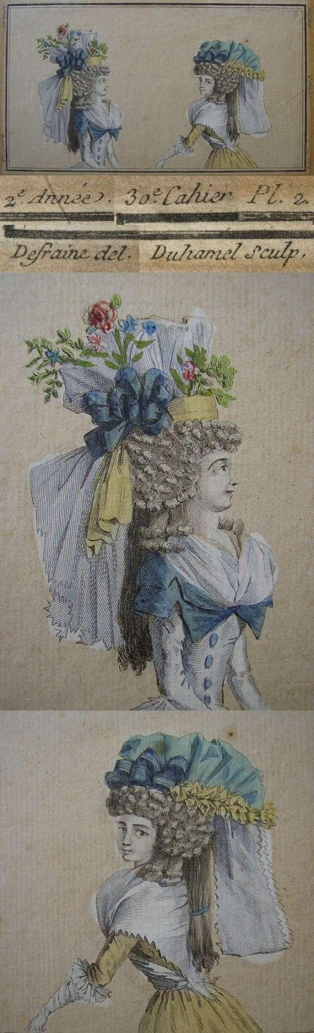 Coiffures du XVIIIeme: poufs, postiches, bonnets et chapeaux - Page 3 Duhame10