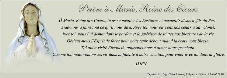 Consécration de notre Forum au coeur immaculé de Marie Priere10
