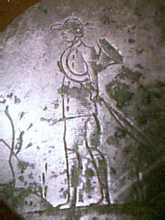 Bouton de vènerie bronze blanc - XIXème Image_14