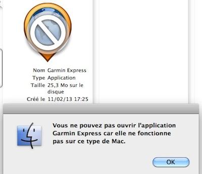 GarminExpress et MacOS (anciennes versions) Captur20