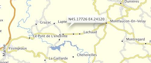 Calculer un point GPS a partir d'une carte routière papier Captur38