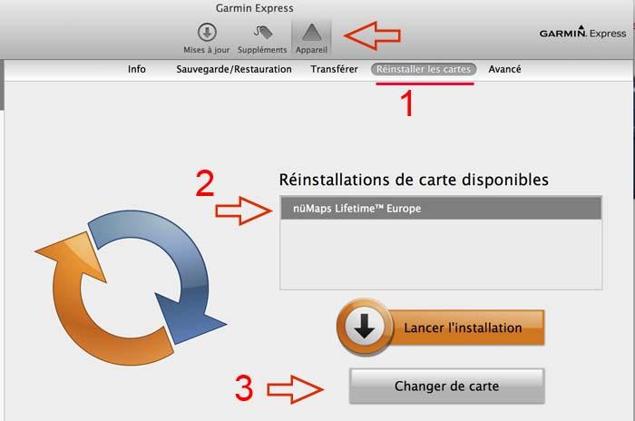 Mise à jour cartographie 2013.40 sur Mac Captur42