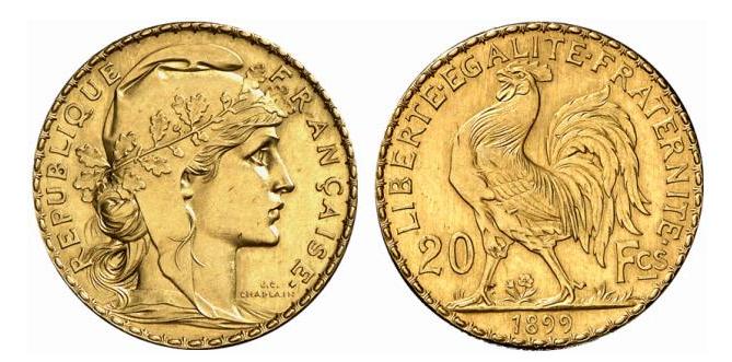 Billets et pièces de monnaie: les Francs à bord du Titanic 20-fra11