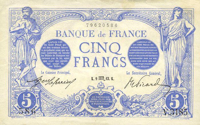 Billets et pièces de monnaie: les Francs à bord du Titanic France10
