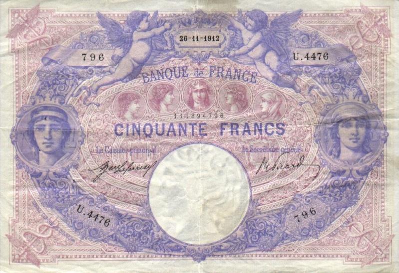 Billets et pièces de monnaie: les Francs à bord du Titanic France12