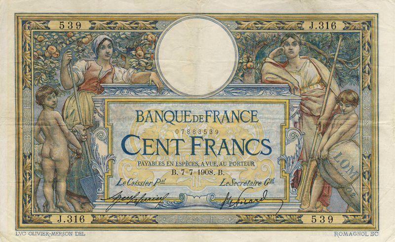 Billets et pièces de monnaie: les Francs à bord du Titanic France13