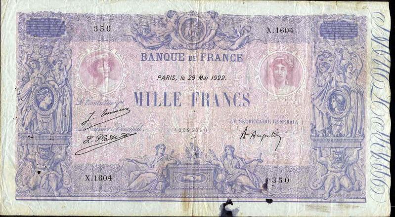Billets et pièces de monnaie: les Francs à bord du Titanic France15