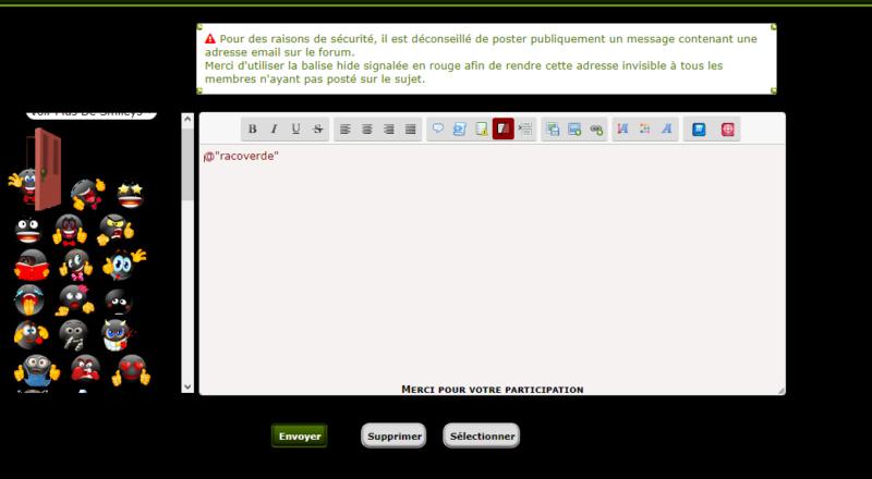 *CORBEILLE*[PhpBB2] avertissement lors de la publication d'un email 2 le retour Pour_p17