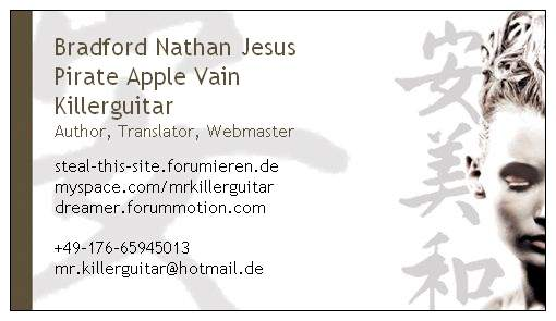 My new buisness card! Livepr10