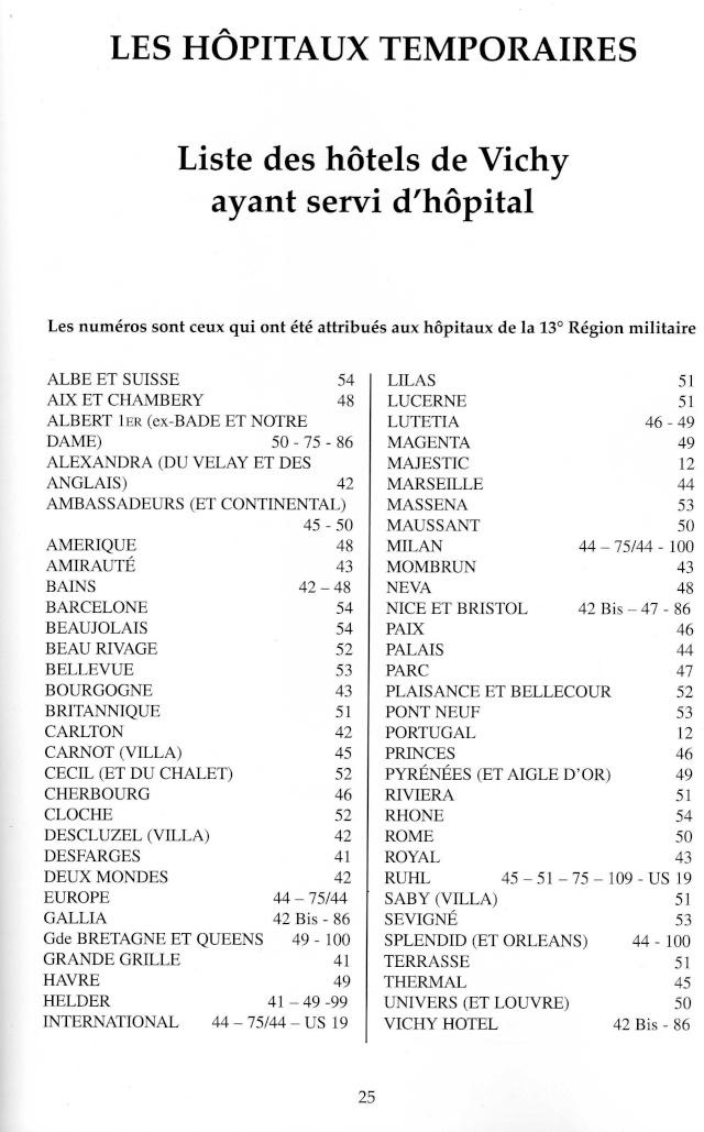 LES HÔPITAUX MILITAIRES A VICHY PERIODE 1914 / 1918 Img47810